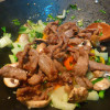 Peppered beef and vegetable stir-fry
