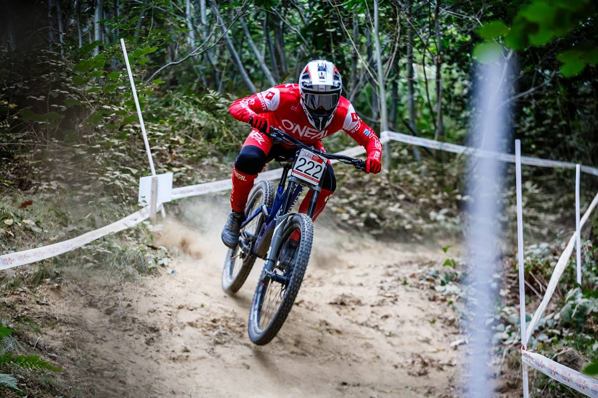 Thrilling penultimate round of the HSBC UK   National Downhill Series in Caersws
