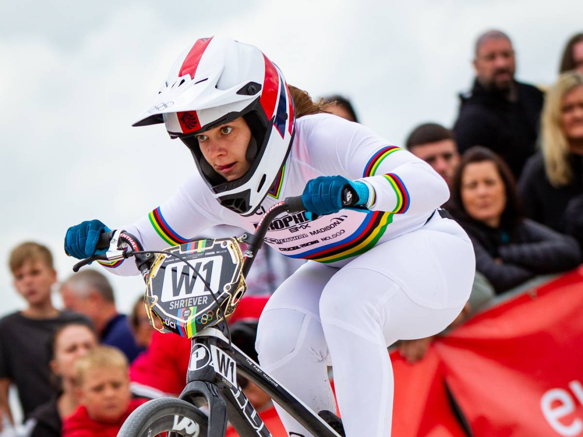 Beth Shriever completes the treble with victory at the 2021 British BMX Championships
