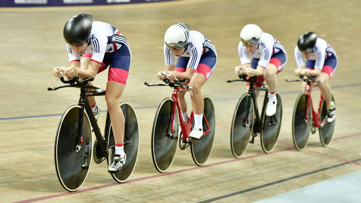 how to ride a track team pursuit