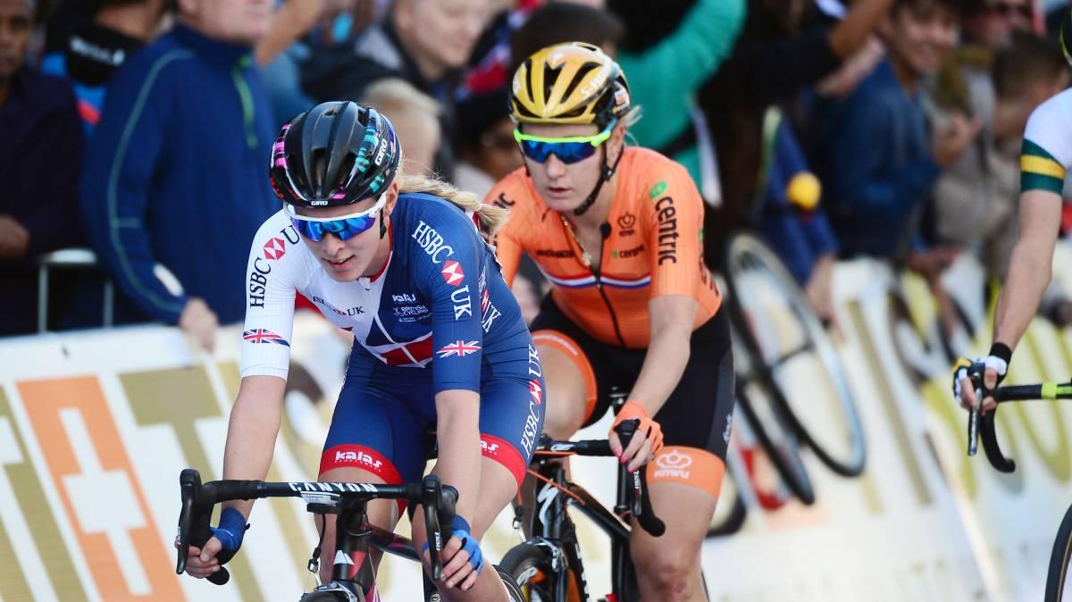 Barnes finishes 14th in elite women's road race