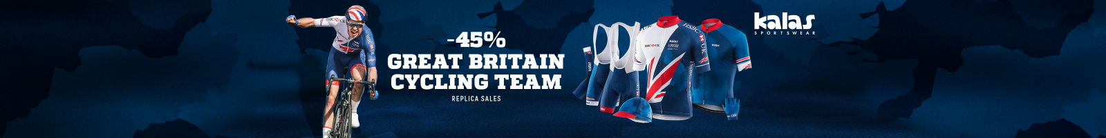 Buy your replica Great Britain Cycling Team kit here now, with a massive 45% off.