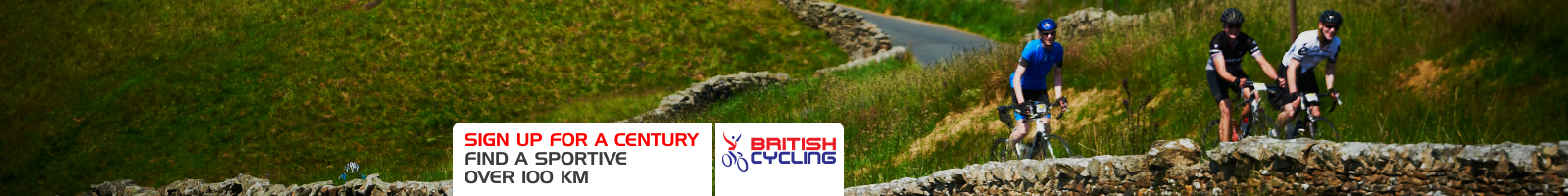 Find sportives over 100km with British Cycling events