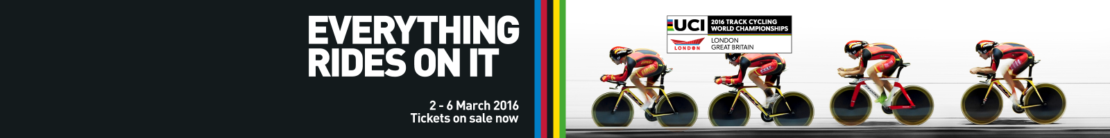 Buy tickets for UCI Track Cycling World Championships 2016 London