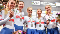 Silver for women's team pursuit squad on day two of the UCI Track Cycling World Championships