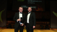 Chris Landon and Paul Crapper recognised at the Wales Sport Awards