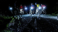 Mountain biking in the dark
