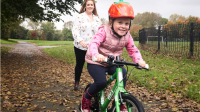 Teaching a child to ride: Where to start