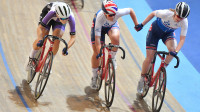 Anna Docherty and Jenny Holl and Rhys Britton and Fred Wright win National Madison titles