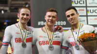 Silver for team sprint on day one of the UCI Track Cycling World Championships