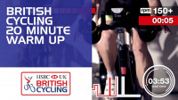Indoor cycling session: 20 minute warm up