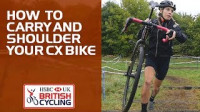 How to carry and shoulder your cyclo-cross bike