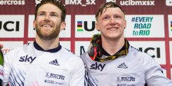 Liam Phillips wins fourth consecutive UCI BMX Supercross World Cup in Manchester