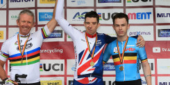 Craig McCann wins gold in the T2 road race in Ostend