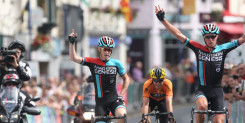 Tom Stewart (Madison Genesis) sprints to victory in the Grand Prix of Wales, round three of the Motorpoint Grand Prix Series.