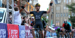 Chris Lawless (JLT Condor) wins Sheffield Grand Prix in the British Cycling Elite Circuit Series.