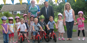 Kirkroyds pre-school pupils end the term on two wheels