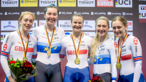 Golden girls lead the way on day one of Berlin Track World Cup