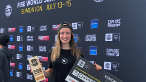 Worthington takes first world cup podium in Canada
