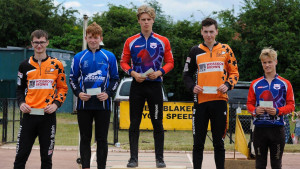 Junior rider Bacon takes maximum points on his way to HSBC UK | Cycle Speedway Elite Grand Prix round three victory