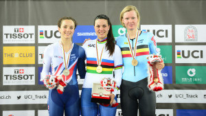 Barker wins scratch race silver at track world championships in Hong Kong