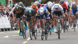 Tour of Britain: Gaviria wins stage four as Viviani reclaims green jersey