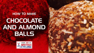 Chocolate and almond protein balls