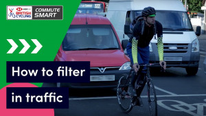 How to filter in traffic when cycling - Commute Smart