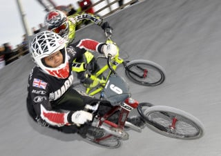 Fast and furious BMX racing action from Kent CycloPark