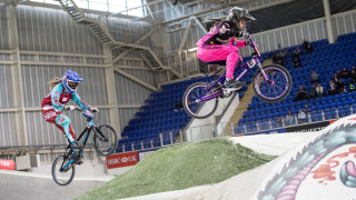 Championship women's racing at the HSBC UK | BMX National Series in Manchester