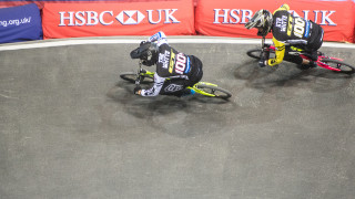 Superclass racing at the 2017 HSBC UK | BMX National Series in Manchester