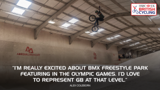 British BMX Freestyle Park rider Alex Coleborn excited about the sport joining the Olympics