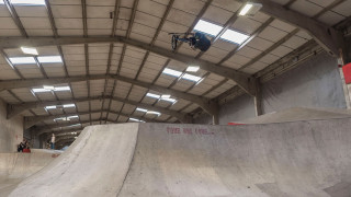 British BMX Freestyle Park rider Alex Coleborn in action