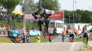 Curtis Manaton at the HSBC UK BMX National Series.