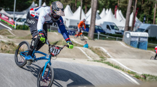 Kyle Evans rode to fourth place in Belgium