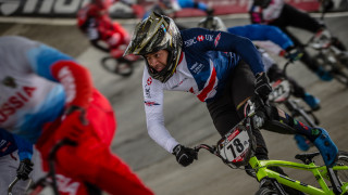 Tre Whyte in the first round of the UCI BMX Supercross World Cup