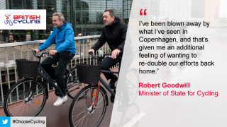 Robert Goodwill admitted to being 'blown away' by the difference between Danish and British cycling infrastructure