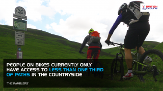 People on bikes currently have access to less than one-third of paths in the countryside