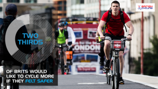 Two-thirds of Brits would like to cycle more if they felt safer