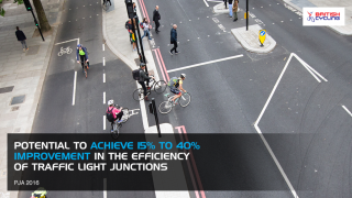 Potential to achieve 15 to 40 percent imporvement of traffic light junctions
