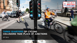 Danger around junctions for cyclists