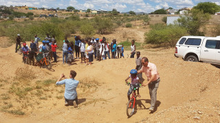 British Cycling coaching exchange in Namibia in paternship with UK Sport IDEALS