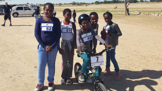 Children in Namibia participate in cycling thanks to British Cycling and UK Sport IDEALS partnership