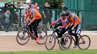 The British Cycling Cycle Speedway Supertrax Series got under way in Manchester with the sport's elite men, elite junior and elite women in action.