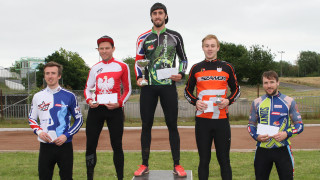 The HSBC UK Cycle Speedway Elite Grand Prix Series round two men's podium