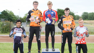 The HSBC UK Cycle Speedway Elite Grand Prix Series round two junior podium