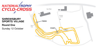2014-15 British Cycling National Trophy Cyclo-cross - Venue map - Round one