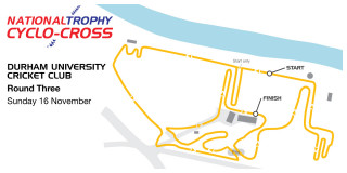 British Cycling National Trophy Cyclo-cross Series - Round 3 -Durham - Map