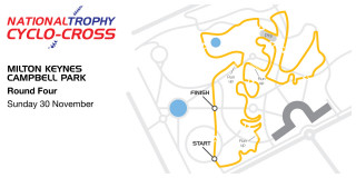 2014-15 British Cycling National Trophy Cyclo-cross - Venue map - Round four