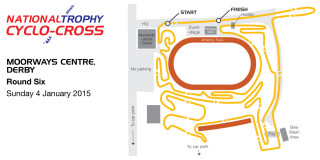2014 National Trophy Cyclo-Cross - Round 6 - Derby - Course map - please click to view full size map